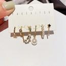 fashion microinlaid zircon star pearl earrings NHCG335210