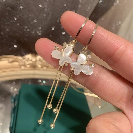 Mode Schmetterling lange Quasten Ohrringe NHWK335261's discount tags