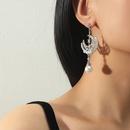 Fashion pearl star moon long tassel earrings NHKQ335266