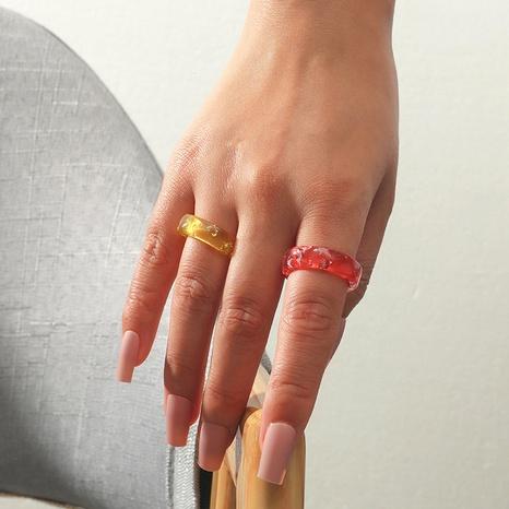 simple juego de 2 piezas de anillo de resina NHKQ335280's discount tags