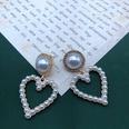 NHOM1551836-White-Love-Pearl-Diamond-Silver-Pin-Stud-Earring