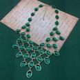 NHOM1551810-Emerald-necklace-40CM+7CM-80g