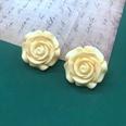 NHOM1551812-Yellow-Flower-Silver-Needle-Stud-Earrings-2.8CM-