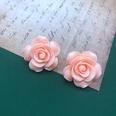 NHOM1551813-Pink-Flower-Silver-Needle-Stud-Earrings-2.8CM-13