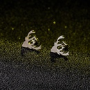 Cartoon Elk Alloy Earrings Wholesale NHAKJ335339
