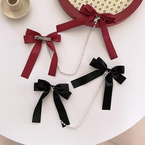 épingle à cheveux chaîne de perles arc de mode NHWB335405's discount tags