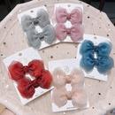 Childrens cute new organza bow hairpin NHSA335410