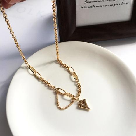 Koreanischer Herzanhänger Halskette Großhandel NHBY335434's discount tags
