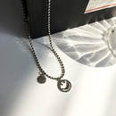 smiley face chain long wild hiphop necklace NHBY335448