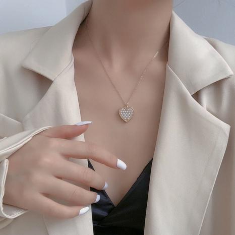 einfache Herzanhänger Halskette NHBY335459's discount tags