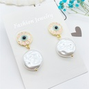 Fashion eye totem pearl earrings wholesale NHHER335553