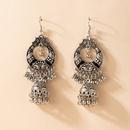 retro geometric hollow pattern earrings NHGY335792