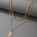 new simple golden rose pendant necklace NHGY335782