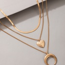 New fashion love pendant simple moon Cshaped necklace NHGY335781