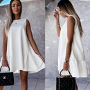 womens round simple fashion solid color dress NHKO335778
