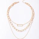 simple fashion threelayer necklace NHGY336211
