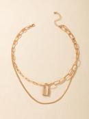 new wild simple lock pendant necklace NHGY336210