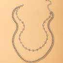 simple triangle punk style silver necklace NHGY336207