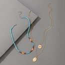 New Beaded Simple Pendant Three Layer Necklace NHGY336200