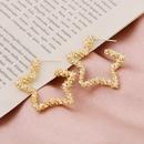 Vintage star earrings NHQC336190