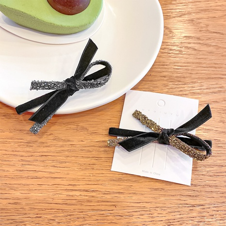 Korean rhinestone bow hairpin wholesale NHNA334788's discount tags