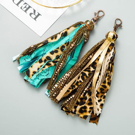 Fashion retro artificial leather tassel keychain NHLN335635's discount tags