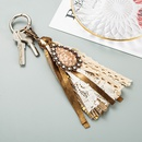 Korean alloy lobster clasp artificial leather tassel keychain NHLN335634