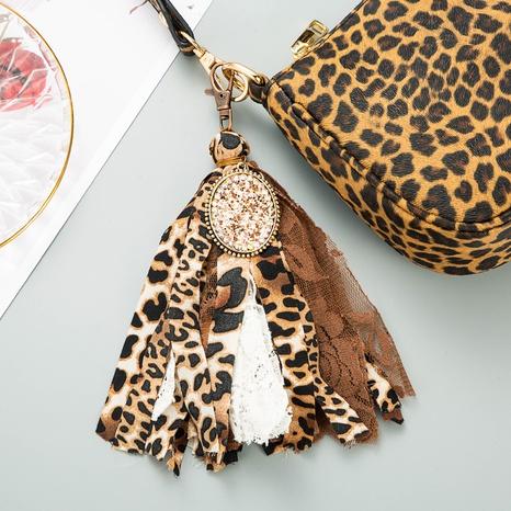 llavero de leopardo con lentejuelas tachonadas de diamantes bohemia NHLN335632's discount tags