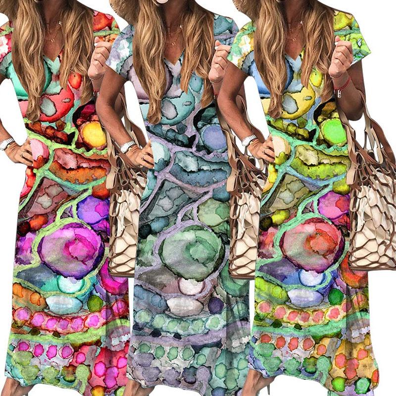 new fashion printed long dress NHIS335629