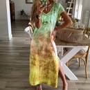 new fashion printed Vneck dress NHIS335626