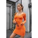 new Vneck hollow bag hip dress NHIS335622