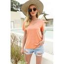 new fashion Vneck solid color shortsleeved casual Tshirt NHIS335614