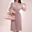 nouvelle robe longue plisse  la mode corenne NHZN335613