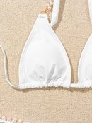 fashion solid color pearl sling bikini NHZO335641