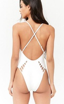 Fashion multirope sexy solid color onepiece swimsuit NHHL335654