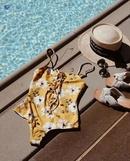 Fashion digital printing slim onepiece swimsuit NHHL335653