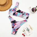 fashion oneshoulder print split swimsuit NHHL335663