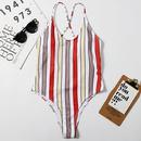 Maillot de bain une pice sexy ray imprim  la mode NHHL335670