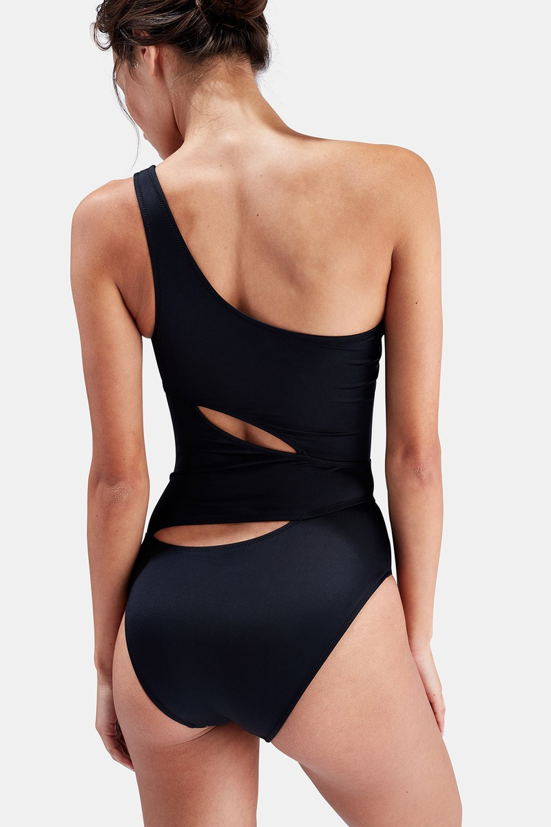 Fashion solid color oneshoulder slim sexy onepiece swimsuit NHHL335686