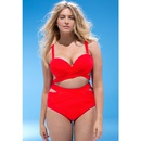 fashion large size mesh split swimsuit NHHL335693