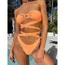 fashion strappy tube top printed tightfitting bikini  NHHL335695