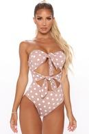 retro polka dots onepiece swimsuit NHHL335708