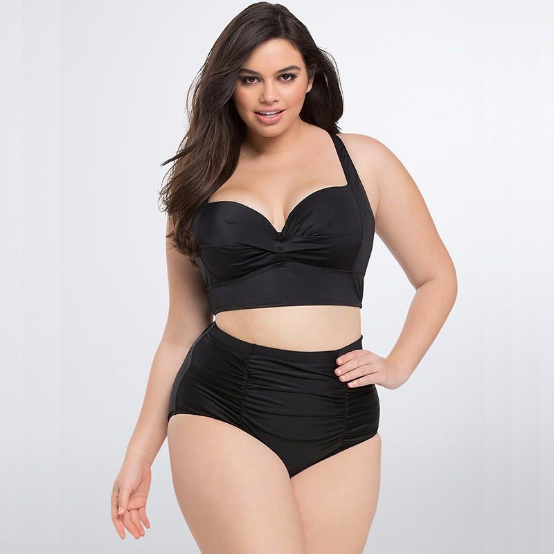 fashion large size printing split swimwear wholesale NHHL335720