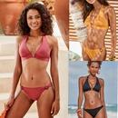 fashion solid color split swimsuit wholesale  NHHL335727