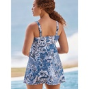 Fashion large split skirt printing swimsuit briefs NHHL335731