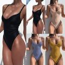 Maillot de bain une pice de couleur unie  la mode en gros NHHL335738