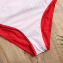 Maillot de bain une pice sexy  col en V et bretelles croises licou grande taille NHHL335740