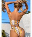 retro snake printing swimsuit NHHL335742