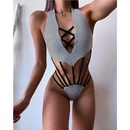 Fashion sexy backless hollow onepiece swimsuit NHHL335753