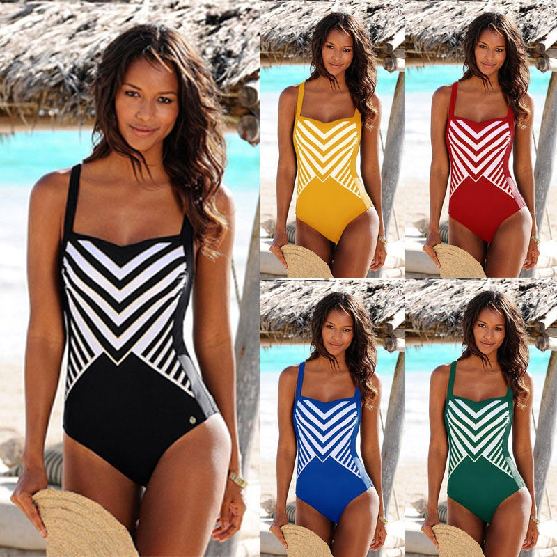Fashion striped sexy onepiece swimsuit wholesale NHHL335754